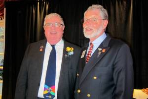 David with PDG Rick Benson of the Westport club.